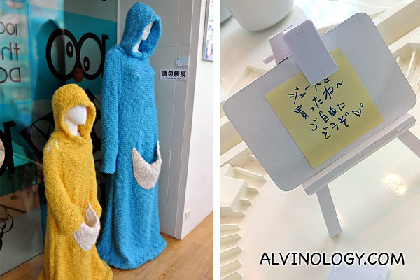 Doraemon-inspired knitwear and a post-it