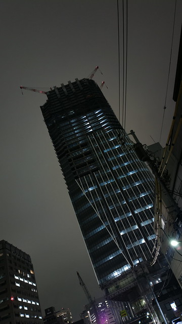 A skyscraper under construction
