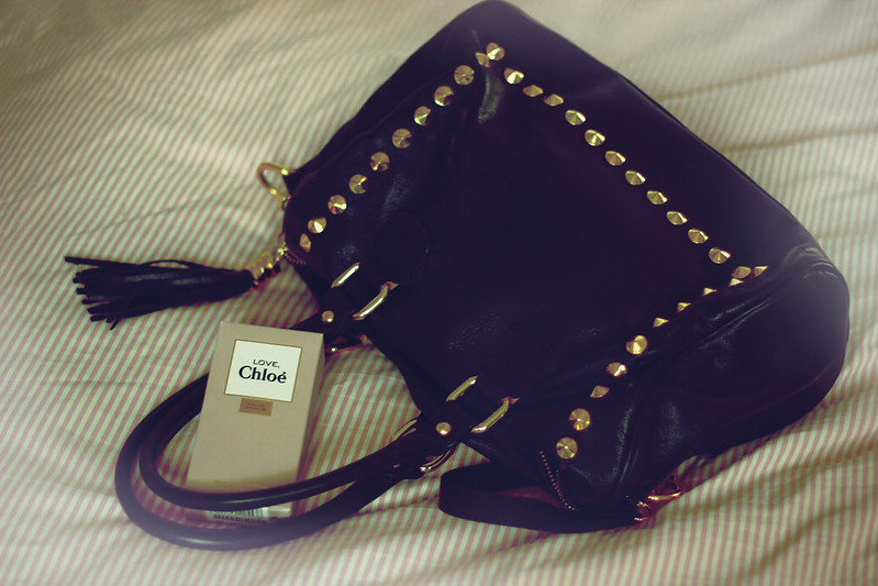 studded bag and Love, Chloé