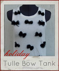 how to make a tulle bow tank