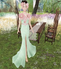 TOPAZIA Vanity Spring Collection Cassidy Gown & Evy Flower Crown