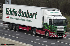 Scania G400 4x2 Tractor with 3 Axle Refrigerated Trailer - PN60 CVR - Kirsten Louise - Eddie Stobart - M1 J10 Luton - Steven Gray - IMG_4638