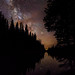 Silhouette Curves In The Starry Night by Mike Berenson - Colorado Captures