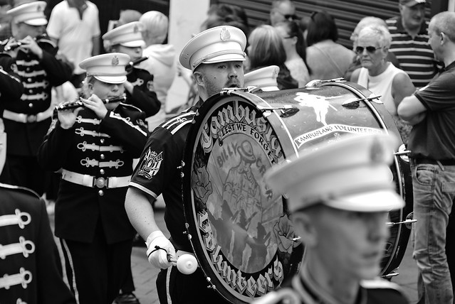 DSC_2132a - The East of Scotland Boyne Parade - Falkirk Scotland - 25 June 2016. 4500 marchers and 41 bands mainly Flute were expected to attend. The event hosted by Falkirk every 11 years was organised by The County Grand Lodge of the East of Scotland.