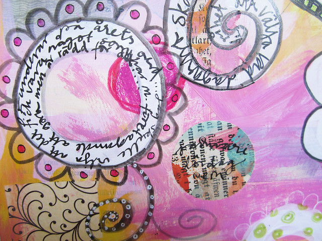 Art Journal Peek: Doodles on paint