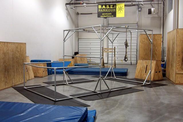 Kee Klamp Parkour Structure at Base Fitness