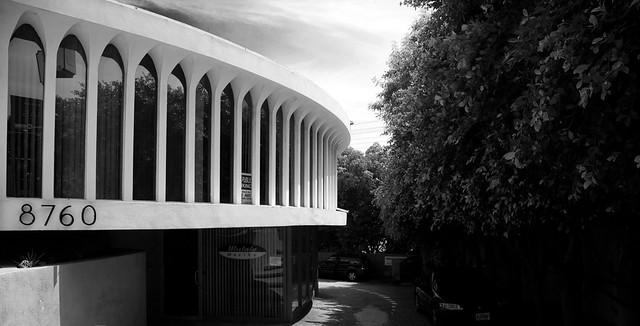 a rare oscar neimeyer designed round spaceship building