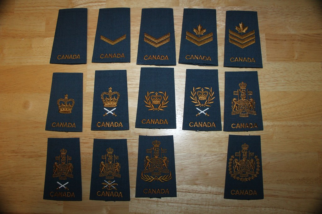 Canadian Air Force NCO Rank Epaulettes | Padre P | Flickr