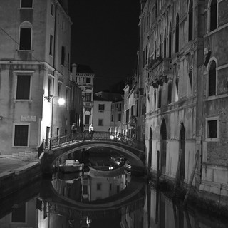 Early Evening: Ponte De Le Bande Venice Veneto Italy
