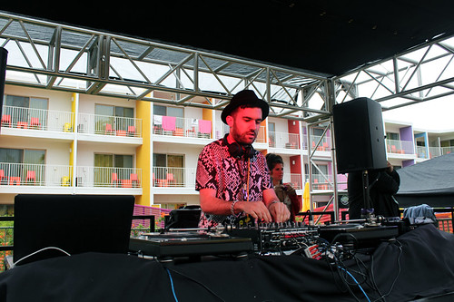 A-Trak LA x Paris Bromance Coachella pool party at The Saguaro
