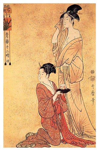 005-La hora de la serpiente 1795-Kitagawa Utamaro-Ciudad de la Pintura