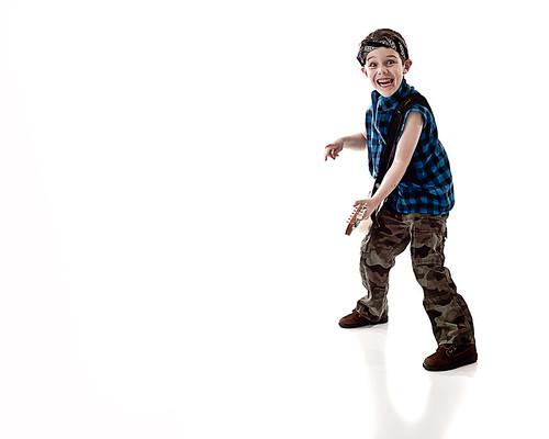 Tobias as a Rockstar