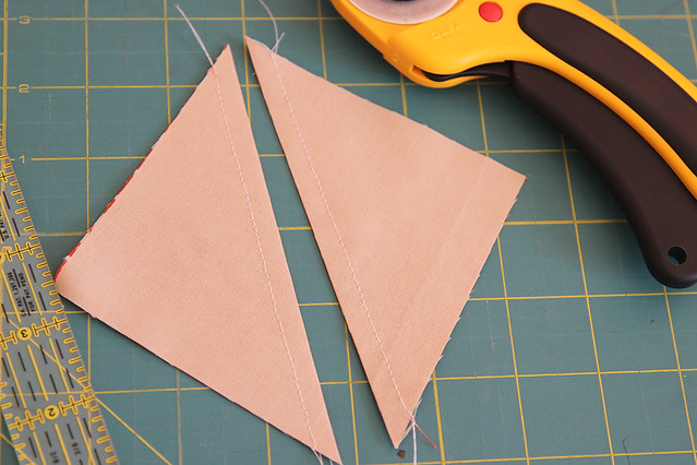 Separating the half square triangle blocks