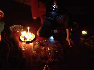 Power out, logical answer is to play LotR Trivial Pursuit