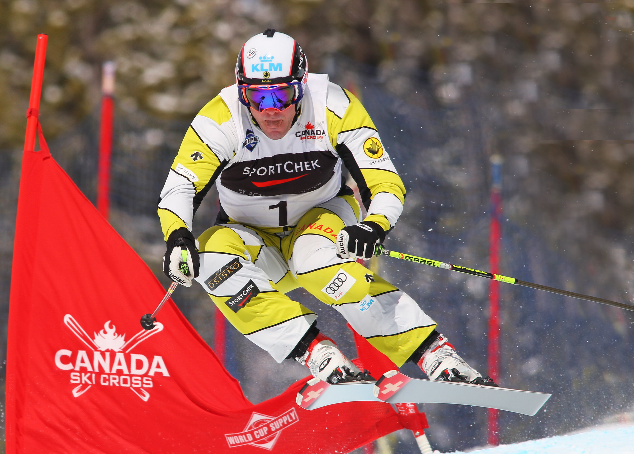 Chris Del Bosco  in action during the Sport Chek Ski Cross Canadian Championships.