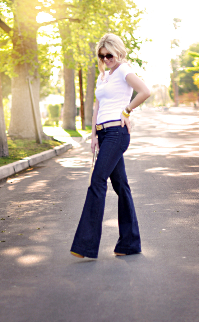 j brand Love Story jeans  and white tee