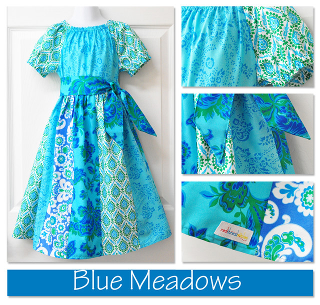 blue meadows collage