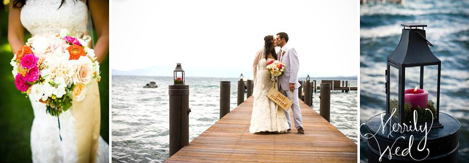 Merrily Wed Lake Tahoe Wedding