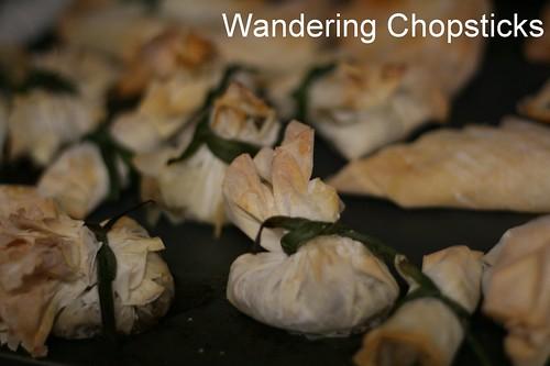 Mushroom Cream Cheese Phyllo Bundles 11