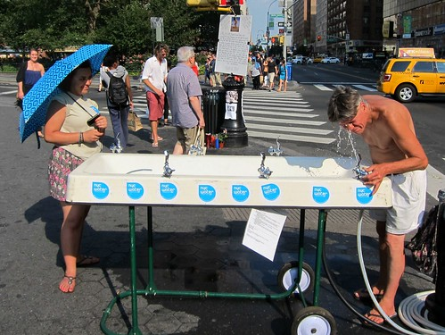 Union Square water fountain