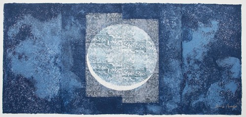 Crescent, washi paperwork & aquatint, 198 x 430 cm, 2008