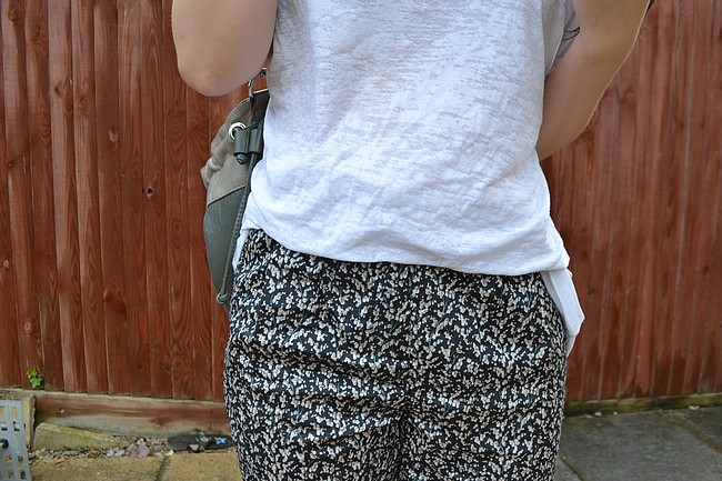 daisybutter - UK Style and Fashion Blog: what i wore, ootd, wiwt, pyjama trouser trend, olivia trousers, boohoo, urban outfitters, SS12