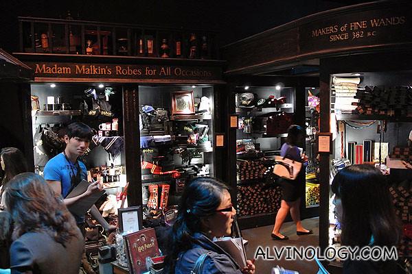 Enter the gift shop