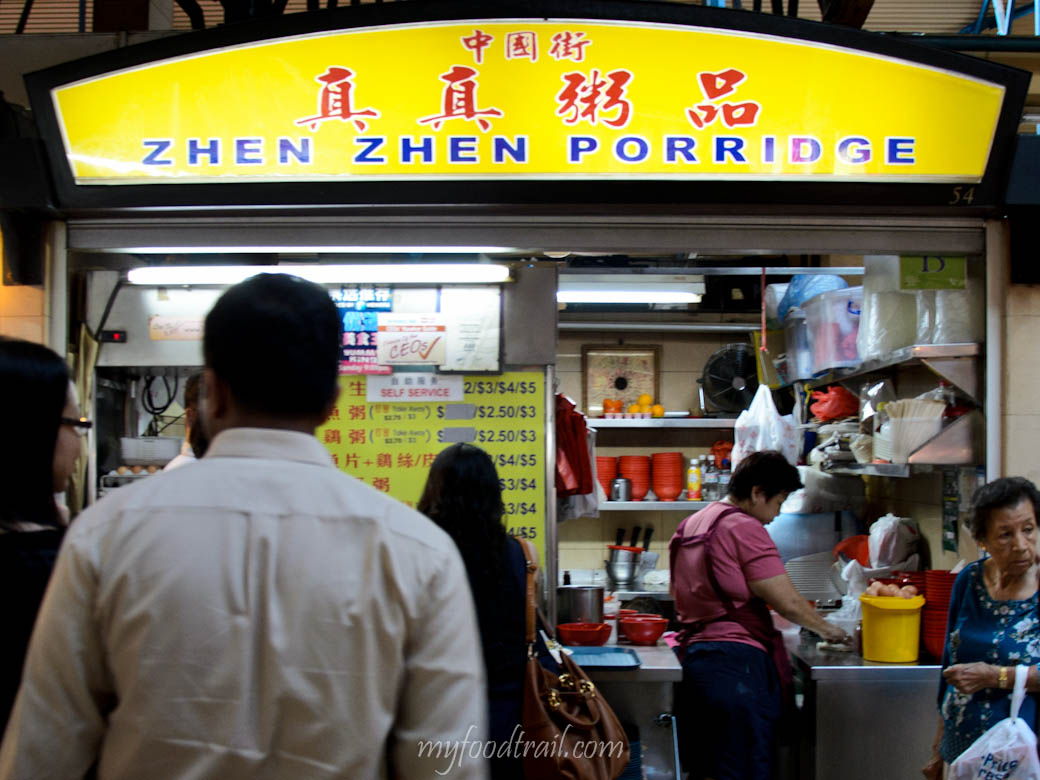 Singapore Hawker Food - Zhen Zhen porridge stall