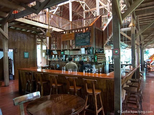 The bar at Refugio Amazonas