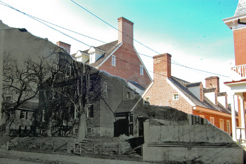 William Paca House before 1890 and in 2012