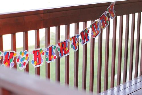 Elizabeth's birthday banner