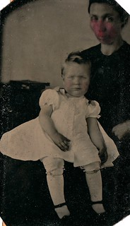 Hidden Mother (and Very Bad Splot) Revealed, Tintype, Circa 1870