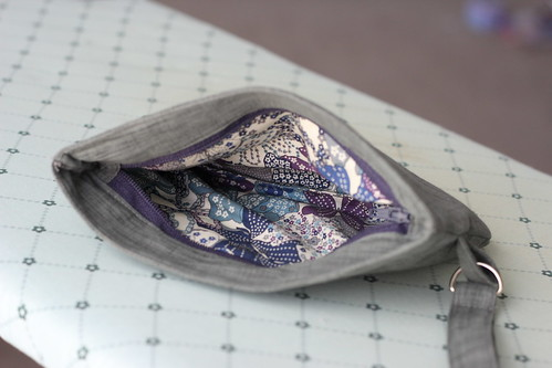 Inset Zip pouch - lining
