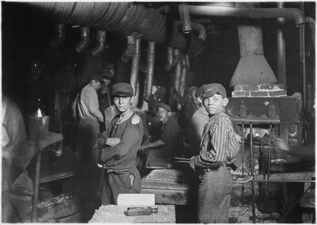 Indiana Glass Works. Midnight, August 1908