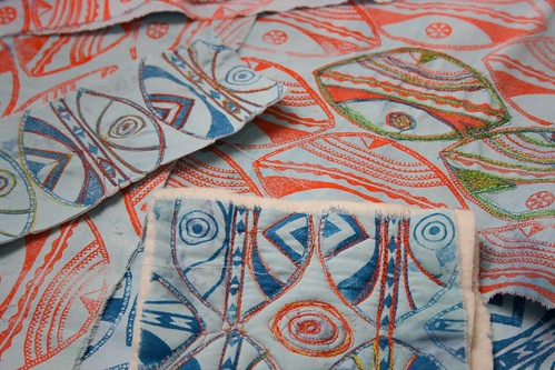 block printing & creative textiles - textiles work by Colouricious