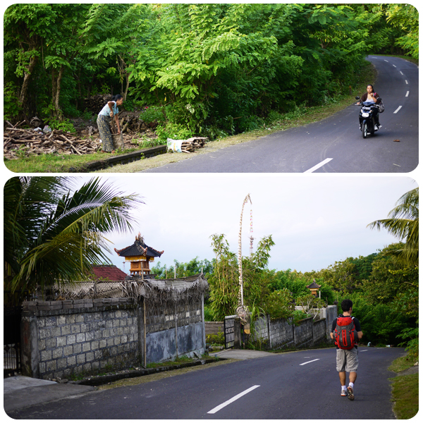 On the road to Uluwatu Beach