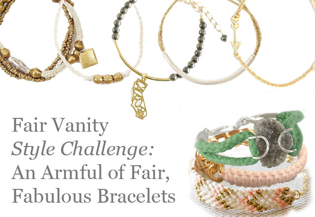 fair vanity, style challenge, bracelets, fashion blog, local DC designers