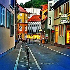 #Little #street of #Eisenach in the #evening.