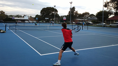 School tennis match