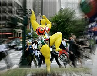 yellow nana on park avenue/ niki de saint phalle