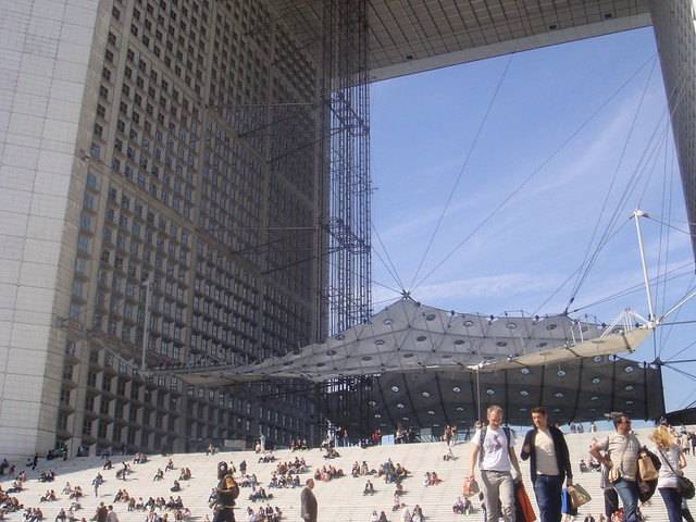 The Grande Arche is the central and iconic building of La Défense, Paris