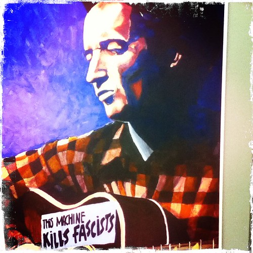 #woodie #guthrie exhibit at #central_library #tulsa - this machine kills fascists