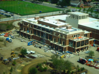 #BushLibrary progress 7/13/12 10:55am. #SMU #tiltshift
