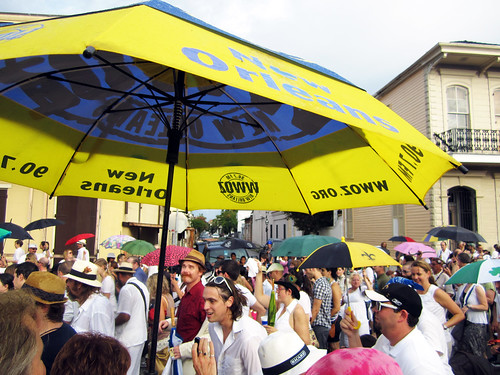 Umbrellas at Uncle Lionel's Second Line.  Photo by WWOZ.