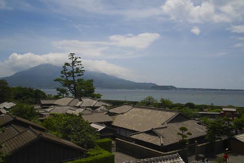 桜島を眺めて