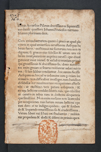 Unidentified provenance evidence in Aesopus: Vita et Fabulae [Greek]. Vita et Fabulae [Latin].