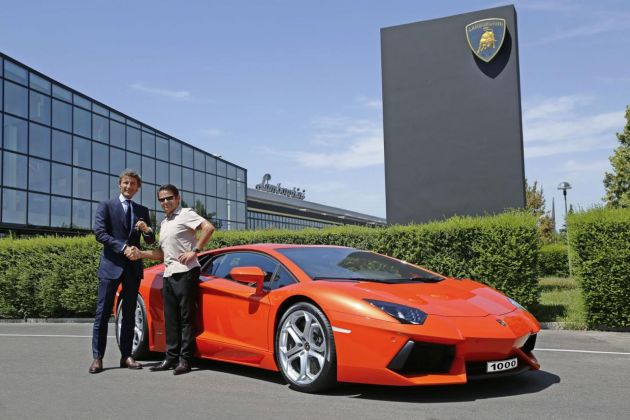Lamborghini builds 1.000th Aventador