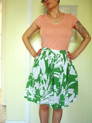 Betty skirt - leaf lawn 4