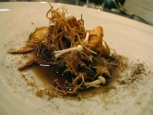 Langres, mushroom, leek
