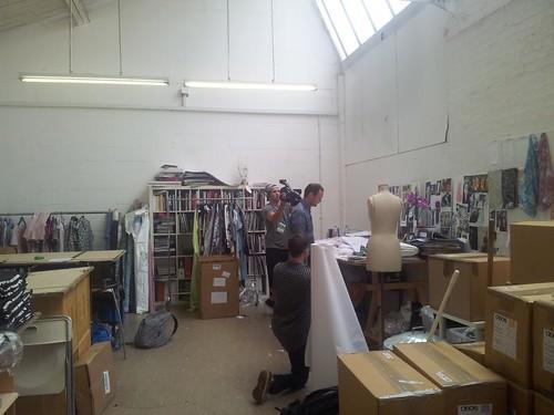 Michael van der Ham in his studio